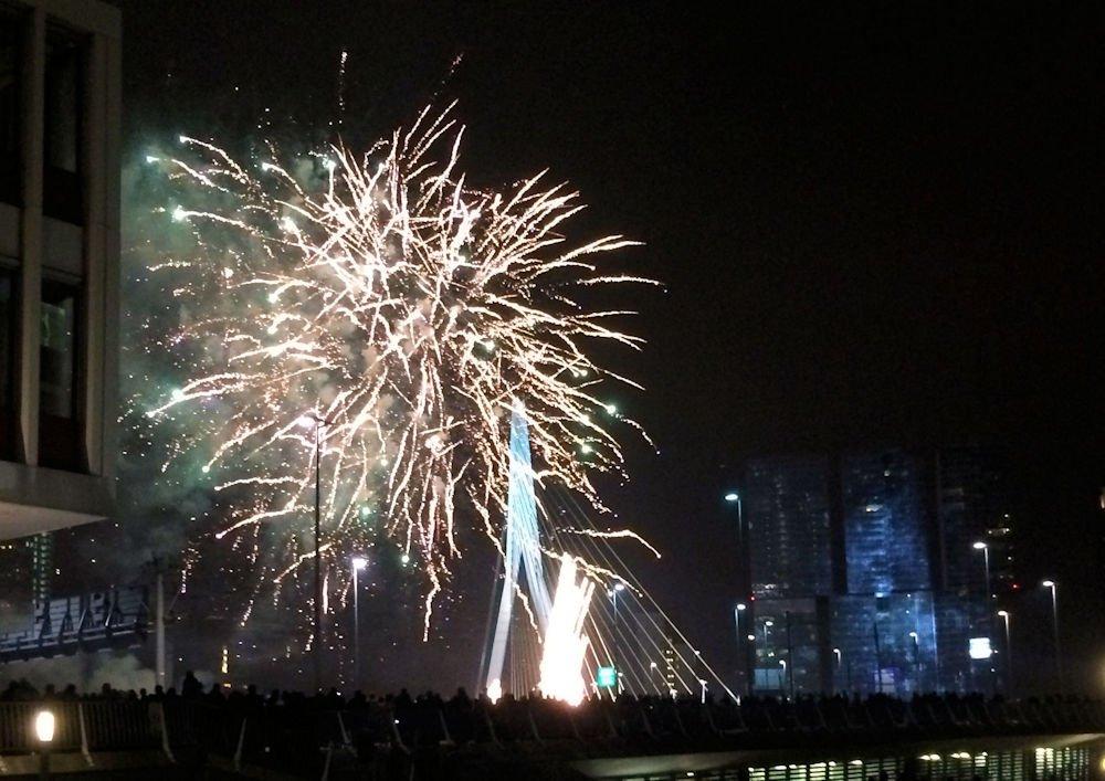 Rotterdam fireworks