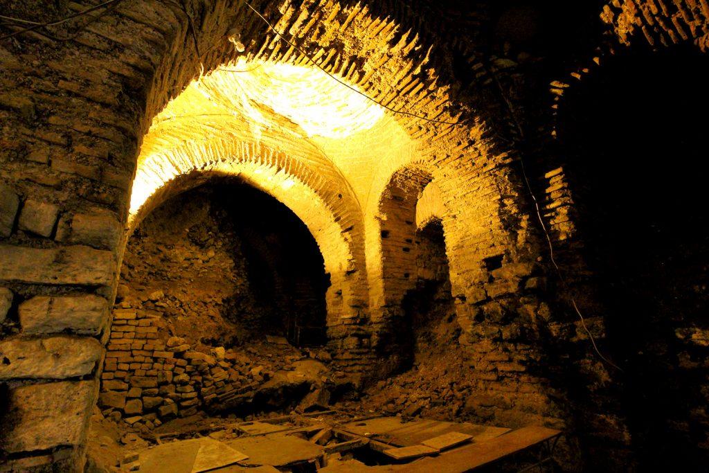 Palatium Istanbul restaurants underground excavation