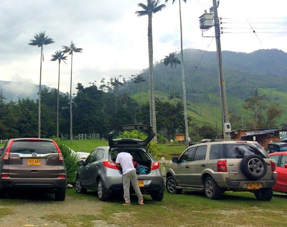 Valle de Cocora parking